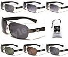 D1170-vp NEW MENS DG EYEWEAR METAL THIN FRAME TURBO AVIATOR SUNGLASSES +POUCH