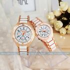 New Elegant Women Men Stainless steel Rose gold Couple Watch Quartz wrist Watch