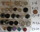 Fabulous Choice of Individual Antique Gem Set Buttons / Brooches / Lapel Pins