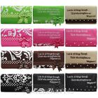 Womens Polka Dots Bow Bible Verse Patch Tri-fold Wallet Checkbook Clutch Purse