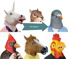Horse Head Mask Creepy Animal HalloweenCostume Theater Prop Novelty Latex Rubber