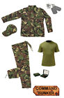 Kids Pack 18 Army Camo Fancy Dress Children's Soldier Outfit (Shirt Pants Jacket