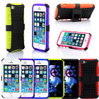 For iPhone 5C Strong Heavy Duty Durable Tradesman Hard TPU Case Cover w Stand UK