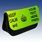 PERSONALISED KEEP CALM AND ANY TEXT MAKE UP BAG / PENCIL CASE
