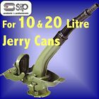 SIP Steel Jerry cans 10 L 20 litres pouring spout fuel can holder petrol diesel