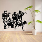 SWAT Team Military Army Soldiers  Removeable Wall Room Vinyl Sticker Decal 5FT