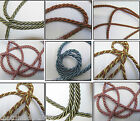 ***8mm & 6mm Curtain/Upholstery Twisted Cord Several Colours-£2.25 for 4 mts**