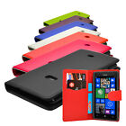 6 Colour Leather Wallet Case Cover For Nokia Lumia 625 Phone + Screen Protector