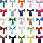 25 Satin Chair Sash Bow Wedding Party Supply Colors New