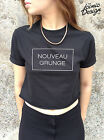 *NOUVEAU GRUNGE Crop Top Fashion Retro Hipster Tumblr Dope cropped Tank Punk*