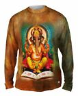 "Yizzam - Indian Art - ""Ganesh Hindu God""-  New Mens Long Sleeve Shirt"