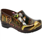 Sanita Womens PROFESSIONAL HENDRIX Dk Brown Patent Leather Clogs Shoes 451616-55