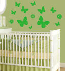 Removable Wall Decal Sticker Vinyl Decor Butterfly And Flowers Kid Room Nursery