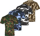 E1 MENS MILITARY CAMOUFLAGE T SHIRT CAMO ARMY COMBAT NEW
