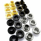 5mm 6mm or 8mm solid brass eyelets with washers - silver, black, gold, antique