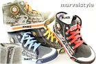 KIDS BOYS SNEAKERS TRAINERS HIGH-TOP ZIP CANVAS SHOES UK size 7-2.5 /EU 24-35