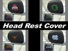 Set of 2 Brand New NWT NCAA Auto Vehicle Car Head Rest Cover