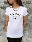 *LA JOIE DE VIVRE The Joy of Living T-shirt Top Fashion Tumblr Homies Vie Vogue*
