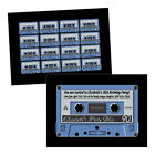 Personalised birthday party invitations AUDIO CASSETTE RETRO TAPE FREE ENVELOPES