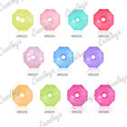95pcs Acrylic Round  Jelly-like Spacer Beads Jewelry Findings 8x8mm 11 Colours