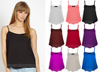 Womens Ladies Plus Size Sleeveless Swing Vest Top Strappy Plain Cami Size 6 - 26