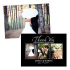 Personalised wedding thank you cards BLACK WHITE THREE PHOTOS FREE ENVELOPES & D