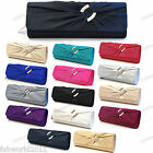 WHITE TEAL GOLD NAVY PINK SILVER Pleated Satin Crystal Evening Clutch Bag #186