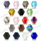 120pcs Loose Faceted Bicone Crystal Spacer Beads Jewelry Finding Wholesale 4mm