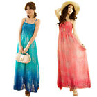 Women Summer Chiffon Boho Gypsy Maxi Long Summer Beach Slip Dress Sundress