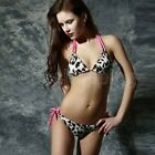 Women's Sexy Leopard Bikini Push-up Padded Bra Bathing Swimwear Swimsuit Suit