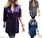 SEXY WOMANS LADIES WINTER WARM FLATTERING WORK TUNIC/LONG SHIRT TOP SIZE 8-16 UK