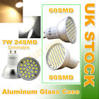 GU10 60/80/24/30 SMD LED 120°WIDE ANGLE ALUMINUM Dimmable Downlight BULB LAMP UK