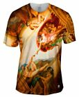 "Yizzam - Michelangelo - ""Creation of Adam""-  New Men Unisex Tee Shirt"