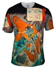 "Yizzam - Japanese Art - ""Giant Red Carp""-  New Men Unisex Tee Shirt"