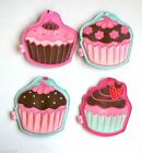 FLUFF LUGGAGE TAGS Cupcake Cup Cake Muffin Suitcase Case Overnight Bag Label Tag
