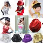 Fashion Kids Adult Unisex Glitter Sequins Hat Dance Show Party Jazz Hat Cap 2015