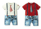 Baby Boy Clothes, Tie T Shirt Jeans Pants Bodysuit Romper 6 12 18 24 Month 0/1/2