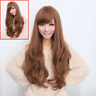 Fashion Ladies Long Wavy Curly Hair Korea Girl Full Cosplay Costume Wig Free Cap