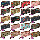 Big Purse Ladies Large Long Wallet Card Holders Zipped Coin Womens Vintage Retro