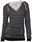 Roxy Juniors Frosted Forests Pullover Hooded Sweater-Black/White