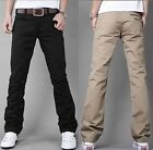 New Men's England Double Zipper Trousers Top Slim Fit Straight Jane Casual Pants