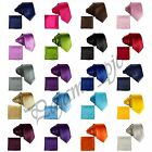 Satin Solid Necktie & and Pocket Square Hankie Set Formal Wedding Prom Party Tie