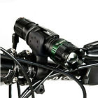 Bicycle Bike Front Light CREE Q5 LED Flashlight Torch 300 LM 3 Modes with Holder