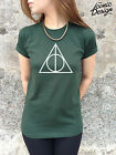 * Harry Potter T-shirt Top The Deathly Hallows Symbol Logo Voldemort Tumblr *