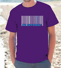"T-shirt maglietta S - M - L - XL ""BE DIFFERENT"" Codice barre BARCODE UOMO DONNA"
