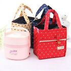 Fashion Quadrate Styles Portable Keep-warm Lunch Carrier Tote Bags With Dots LA
