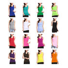 sto Long Cotton Elastic Slim Sleeveless Casual Tank Tops Under Base T-Shirt Vest