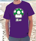 "T-SHIRT MAGLIETTA  S - M - L - XL  ""FUNGO SUPER MARIO 1UP"""
