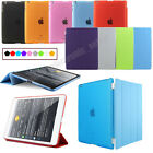 Ultra Thin Magnetic Smart Cover & Back Case For Apple iPad 2 iPad 3 New iPad 4