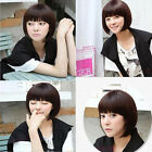Womens New Short Sexy Cosplay Fashion Straight Wig Hair Party Wigs Brown/Black